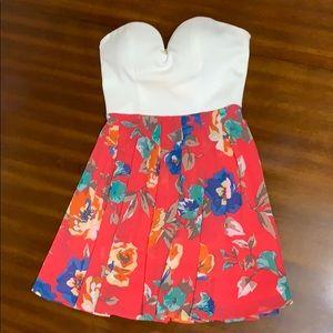 Windsor floral sweet heart strapless dress